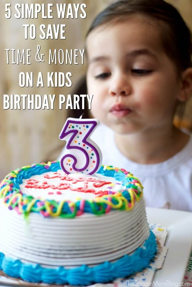 5 Insider tricks to make planning a kids birthday party a breeze, including creative themes to pull it all together!