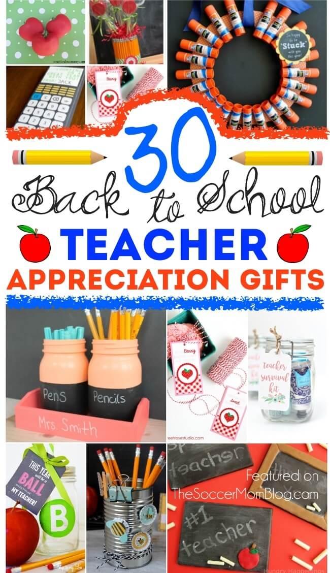 Kid made teacher appreciation gifts
