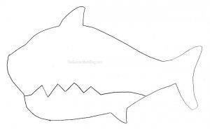 Free Printable Shark Puppet printable on The Soccer Mom Blog