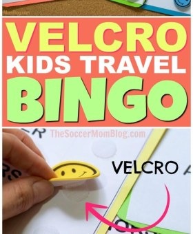 Velcro Road Trip Bingo Travel Game (Free Printables)