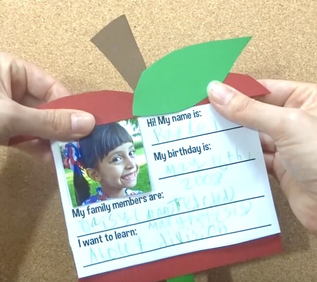 Kid-made card for new teachers