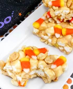Crunchy Peanut Butter & Candy Corn Treats