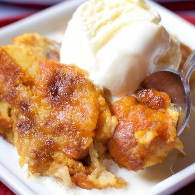 Warning: This melt-in-your-mouth pumpkin pie bread pudding recipe may just become your new favorite Thanksgiving dessert!