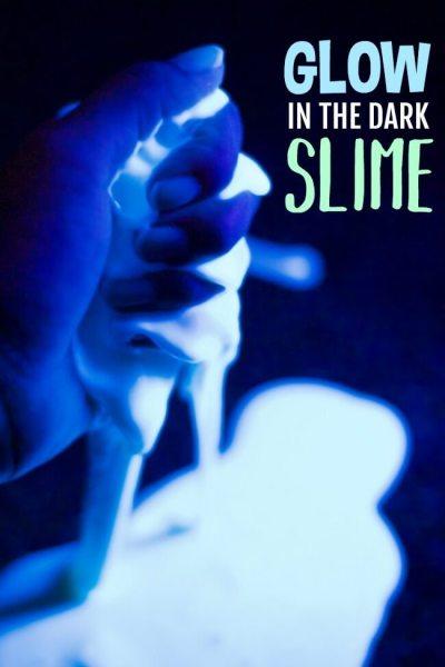 Taste-Safe Glow in the Dark Slime (3 Edible Ingredients!)