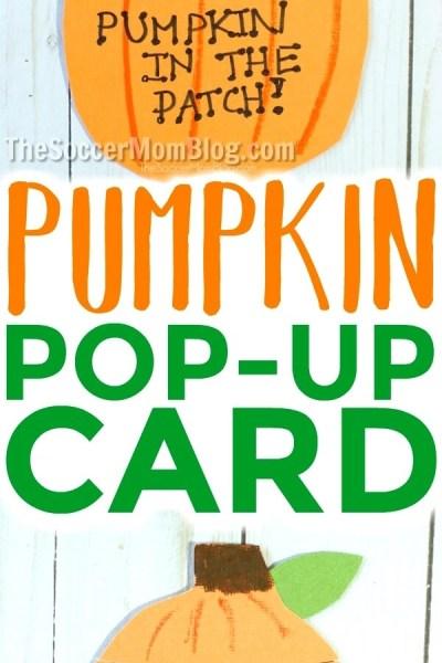 Pop-Up Photo Pumpkin Card for Kids