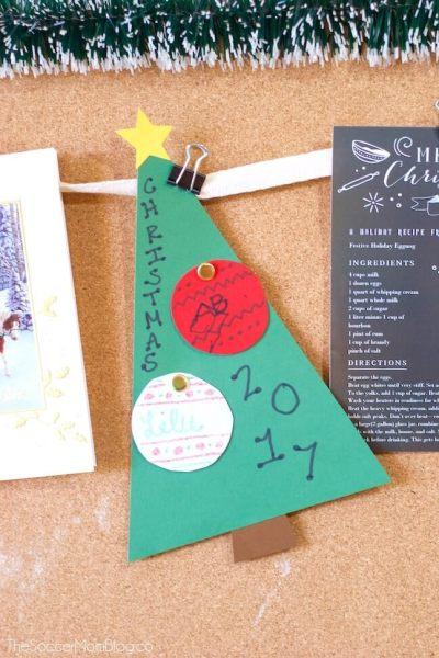 Kid Photo Christmas Tree Card