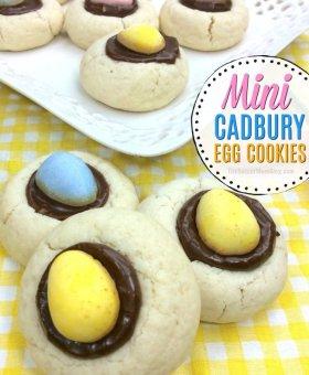 Mini Cadbury Egg Cookies