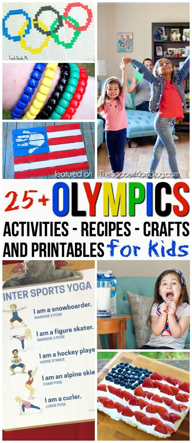 Celebrate the winter games with this diverse collection of Olympics activities for kids! Red, white, and blue party recipes; patriotic crafts; games; educational printables and more!