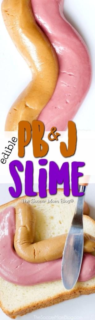 Safe, easy, edible! Peanut butter & jelly slime for kids!