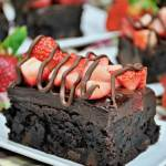 Pure bliss in every bite! These rich chocolate covered strawberry brownies are the ultimate in decadence!