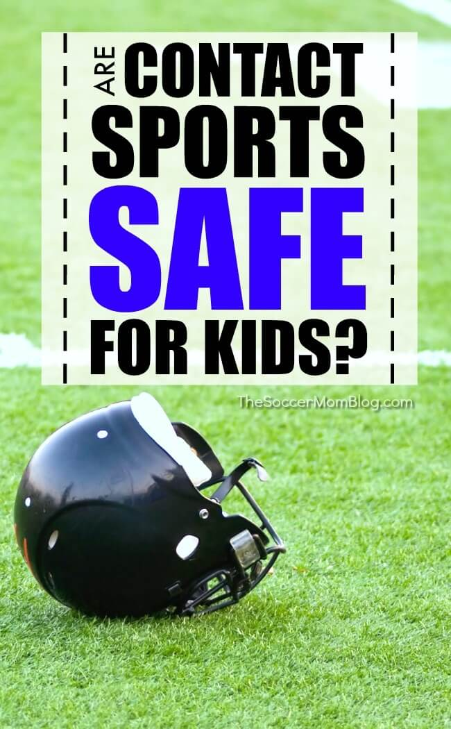 There's been a LOT of talk in the media over the past few years about the dangers of contact sports, especially concussions. Many parents wonder, are contact sports safe for kids? Weighing the risks versus rewards of playing sports plus how to help protect your child.