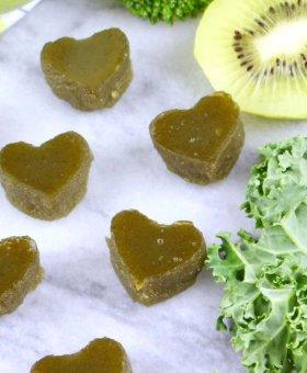 Healthy Homemade Green Gummy Snacks