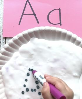 Tracing Letters with Slime (VIDEO)