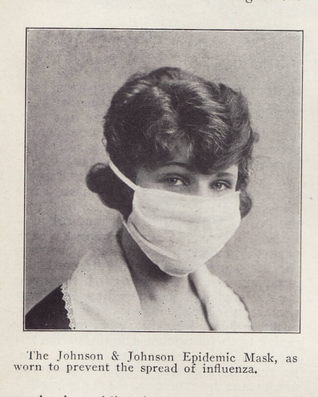 flu epidemic mask from 1918