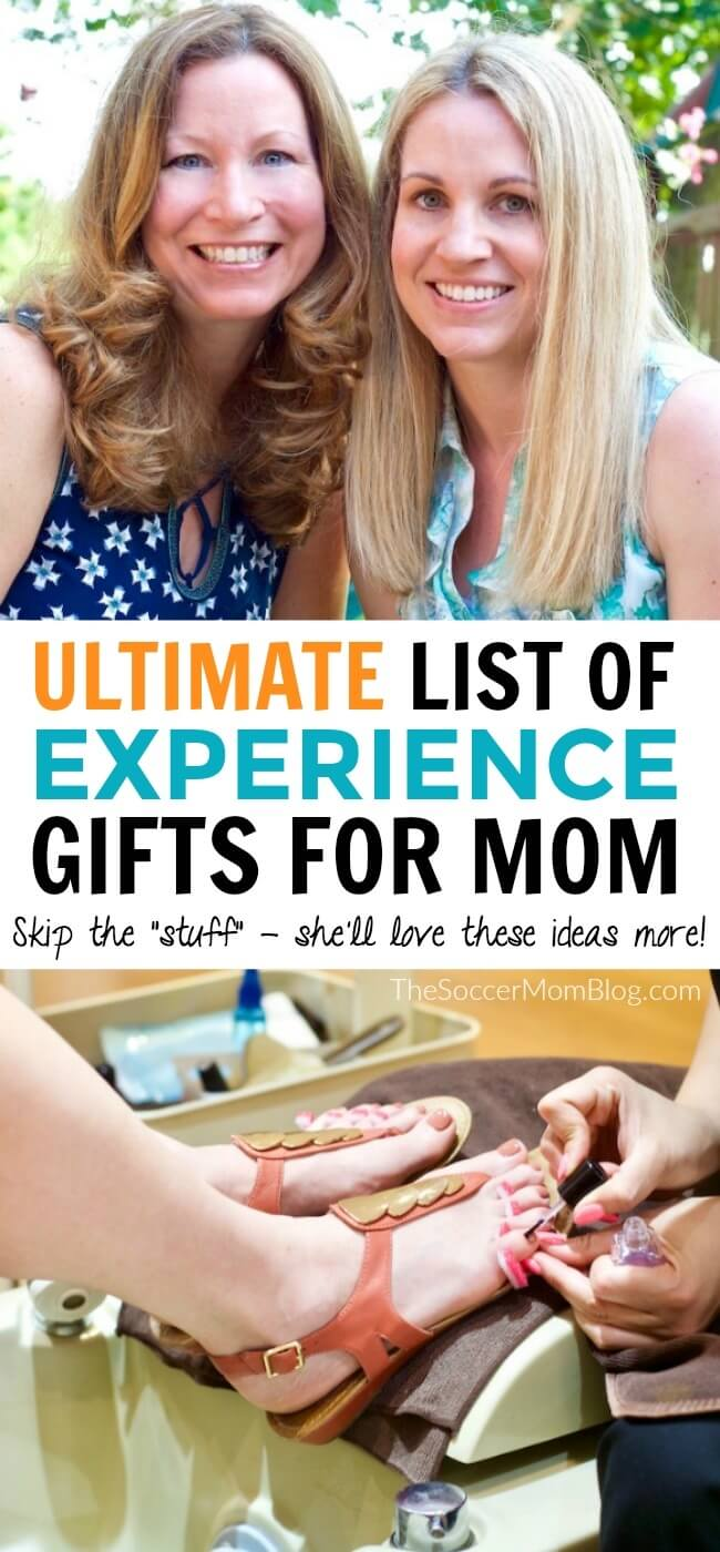 "Skip the ""stuff"" - mom will love these unique experience gifts more!"