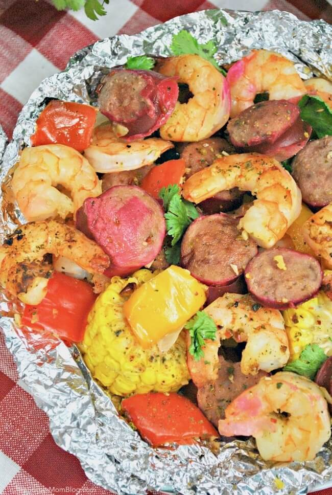 Cajun Shrimp Foil Packets are packed with bold flavors - an easy and healthy dinner ready in about 20 minutes!