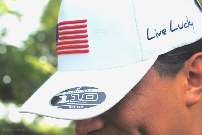 "Black Clover Hats with the motto ""Live Lucky"""