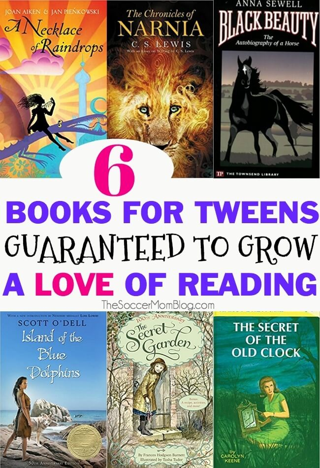 6 timeless books perfect for tweens to create lifelong readers - these are the books that made me fall in love with reading!