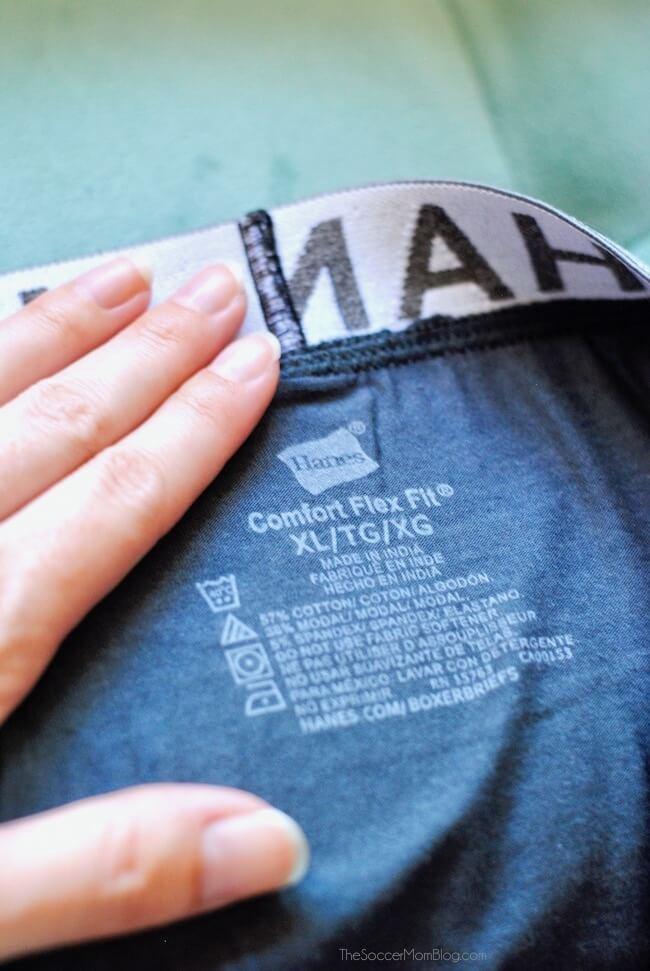 Hanes Comfort Flex Fit boxer briefs have no tag
