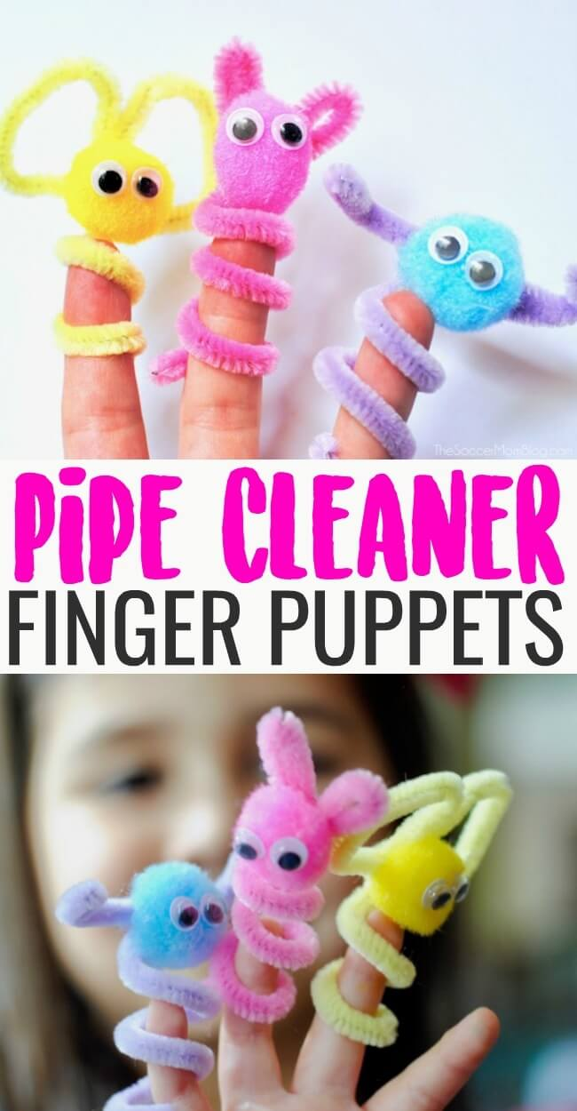 Pipe Cleaner Finger Puppets The Soccer Mom Blog