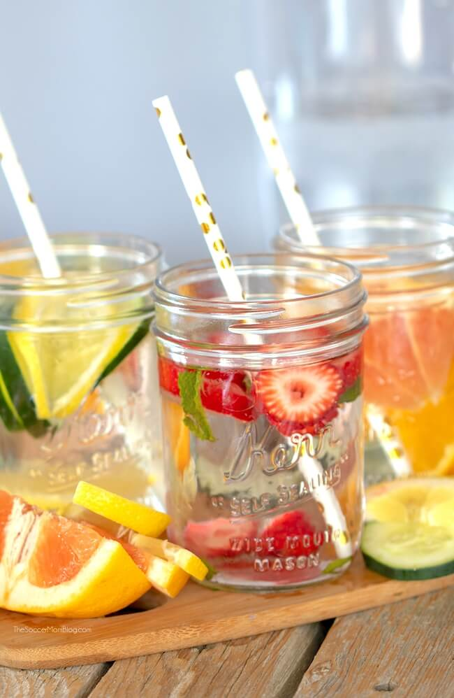 Fruit infused water is a delicious way to stay hydrated and provide your body with detox and cleansing benefits. Plus it looks beautiful too!