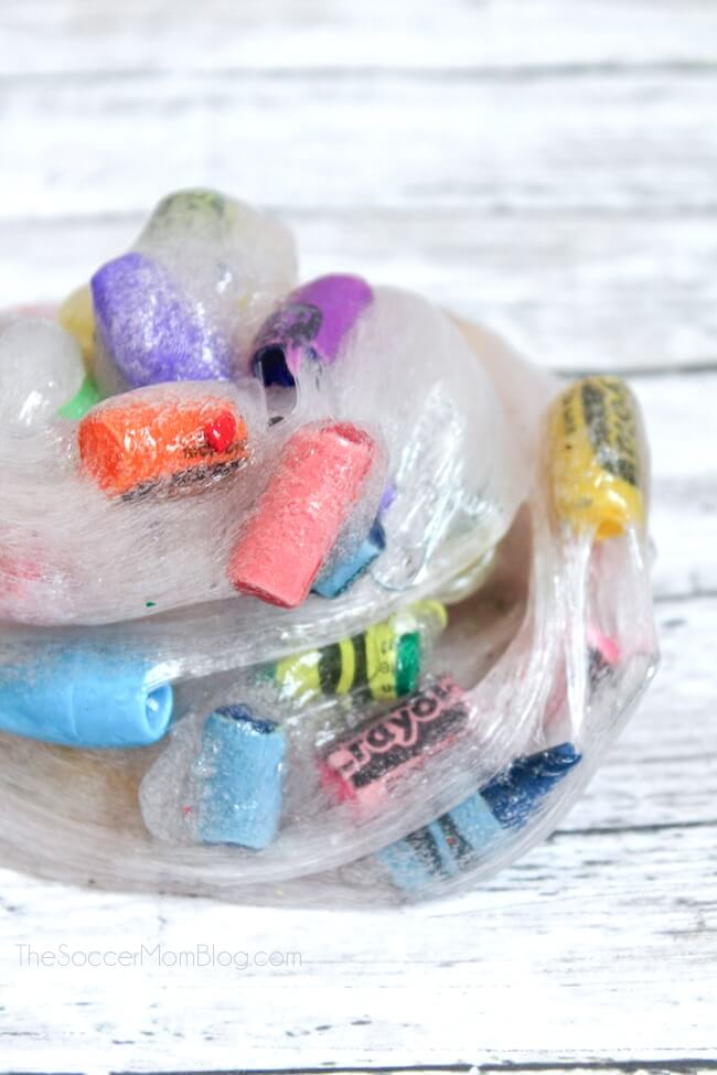 Celebrate a brand new school year with this colorful Back to School Slime recipe!