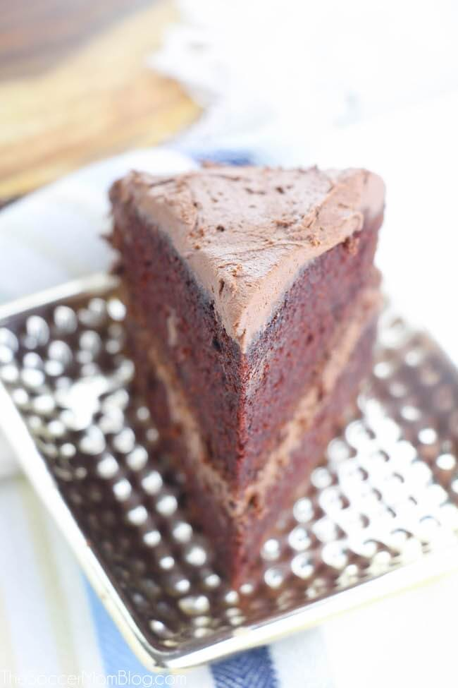 The PERFECT chocolate cake! This chocolate mayonnaise cake is unbelievably moist and rich.