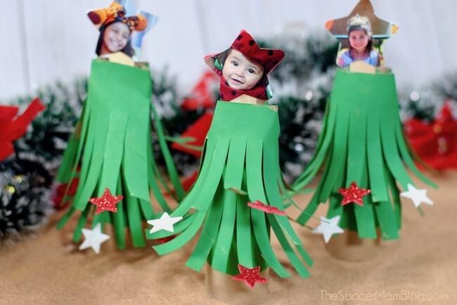 Cardboard Tube Christmas Tree Craft The Soccer Mom Blog