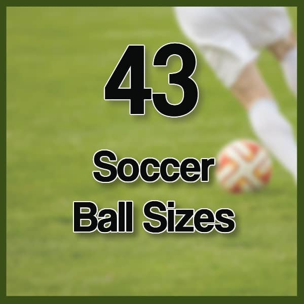 different soccer ball sizes