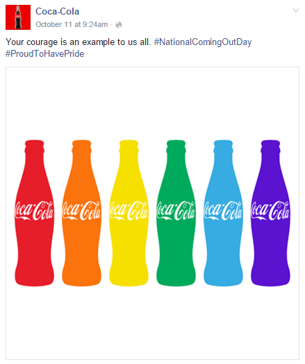 Coca-Cola is able to talk about seemingly unrelated things, yet incorporate the iconic bottle shape