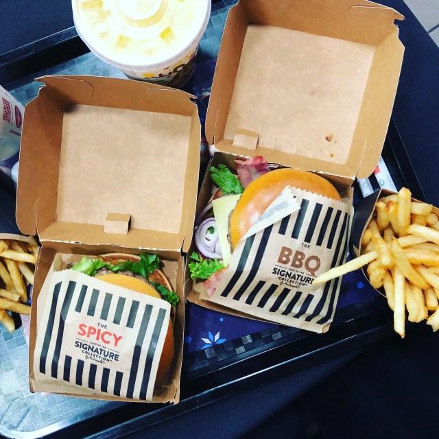 Signature burgers at McDonalds