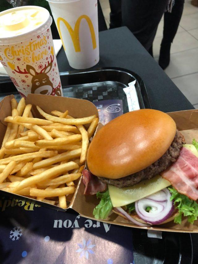 Signature burger and fries