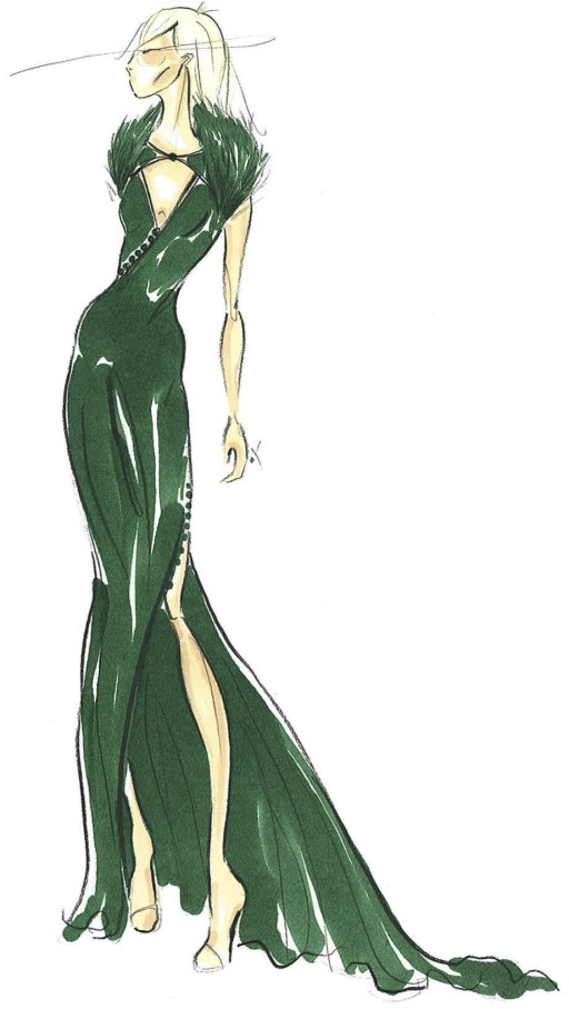 Pamella Roland Fall 2013 Sketch 2