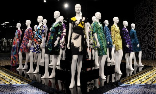 DVF Wrap Dresses on Display