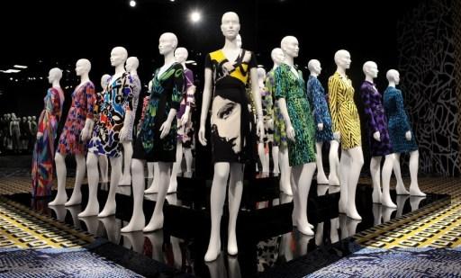 DVF Wrap Dresses on Display