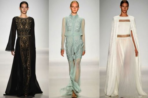 New York Fashion Week: Tadashi Shoji Spring 2015 Collection