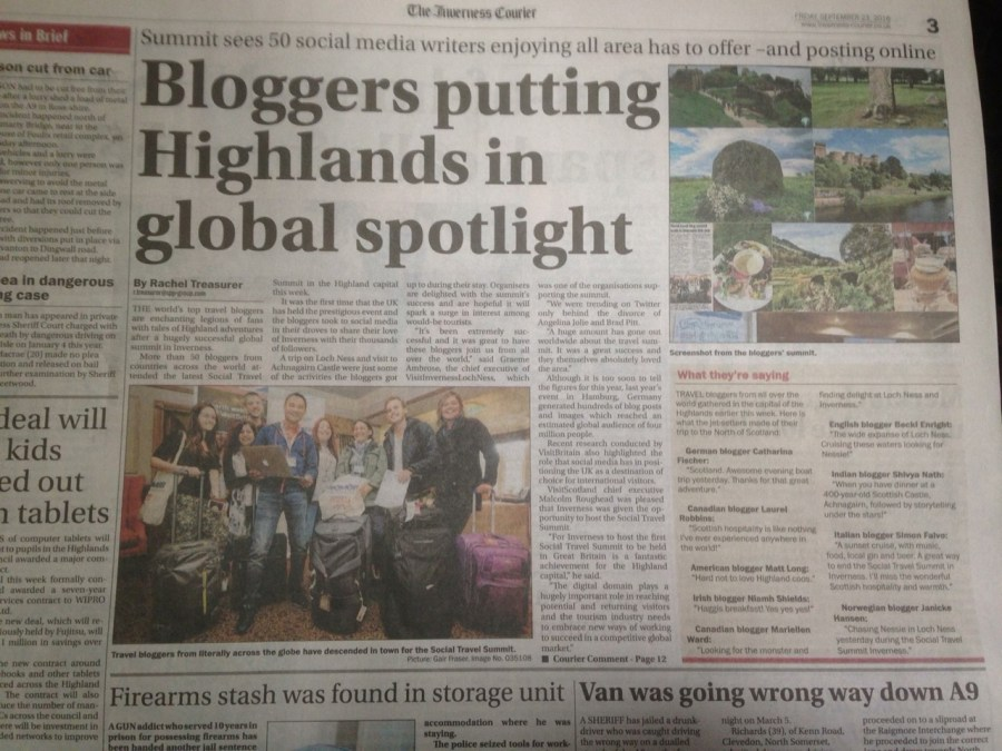 STS Inverness in the Inverness Courier.