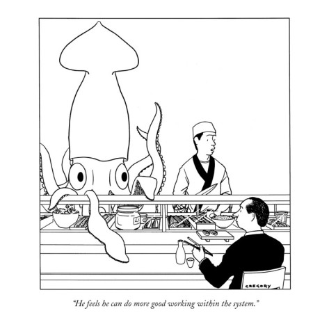 Cartoon by Alex Gregory. Published in The New Yorker, a Condè Nast Publication.