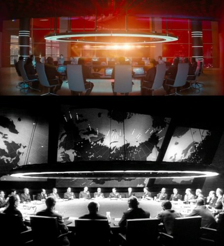 As best I can tell, the first person to notice that Starfleet Headquarters looks like Dr. Strangelove was
