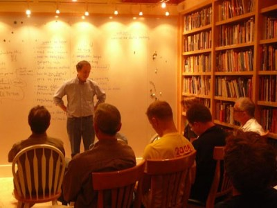 September, 2008: the very first QS meetup (Image credit: Kevin Kelly)