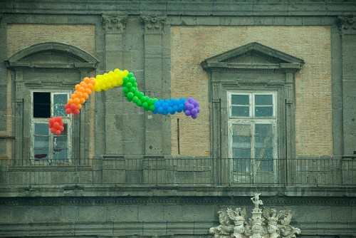 Photo taken at the Napoli Pride Parade in 2010