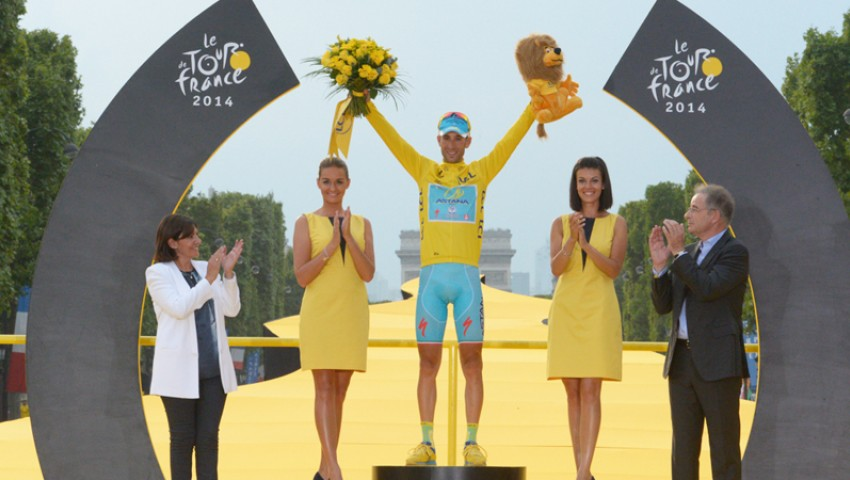 Tour de France podium