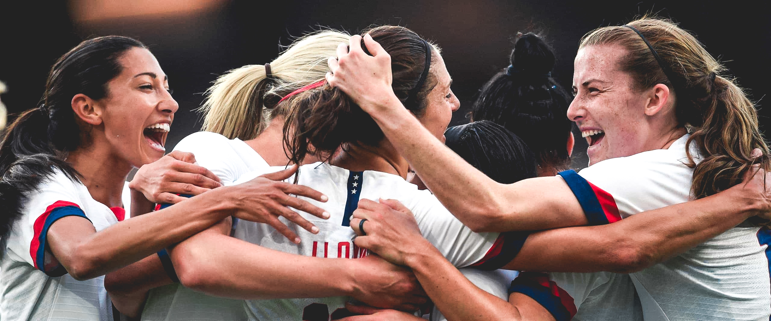 Members of the U.S. Women's National Soccer Team at the 2019 World Cup.