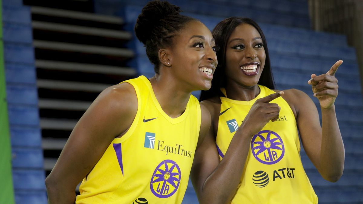 An offseason trade has united sisters Nneka (left) and Chiney Ogwumike as teammates for the Los Angeles Sparks
