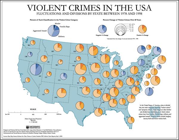 Crime Map Of Usa.Violent Crime Map Usa