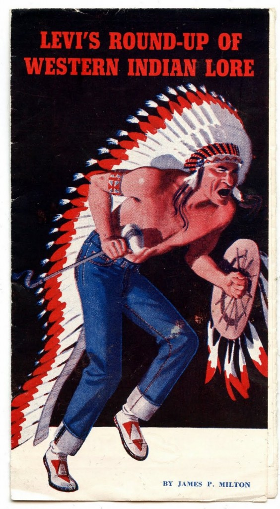 """Vintage Levi's Brochure Provides A """"Round Up Of Western"""