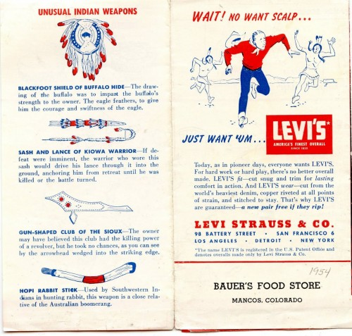 "Vintage Levi's Brochure Provides A ""Round Up Of Western Indian Lore"