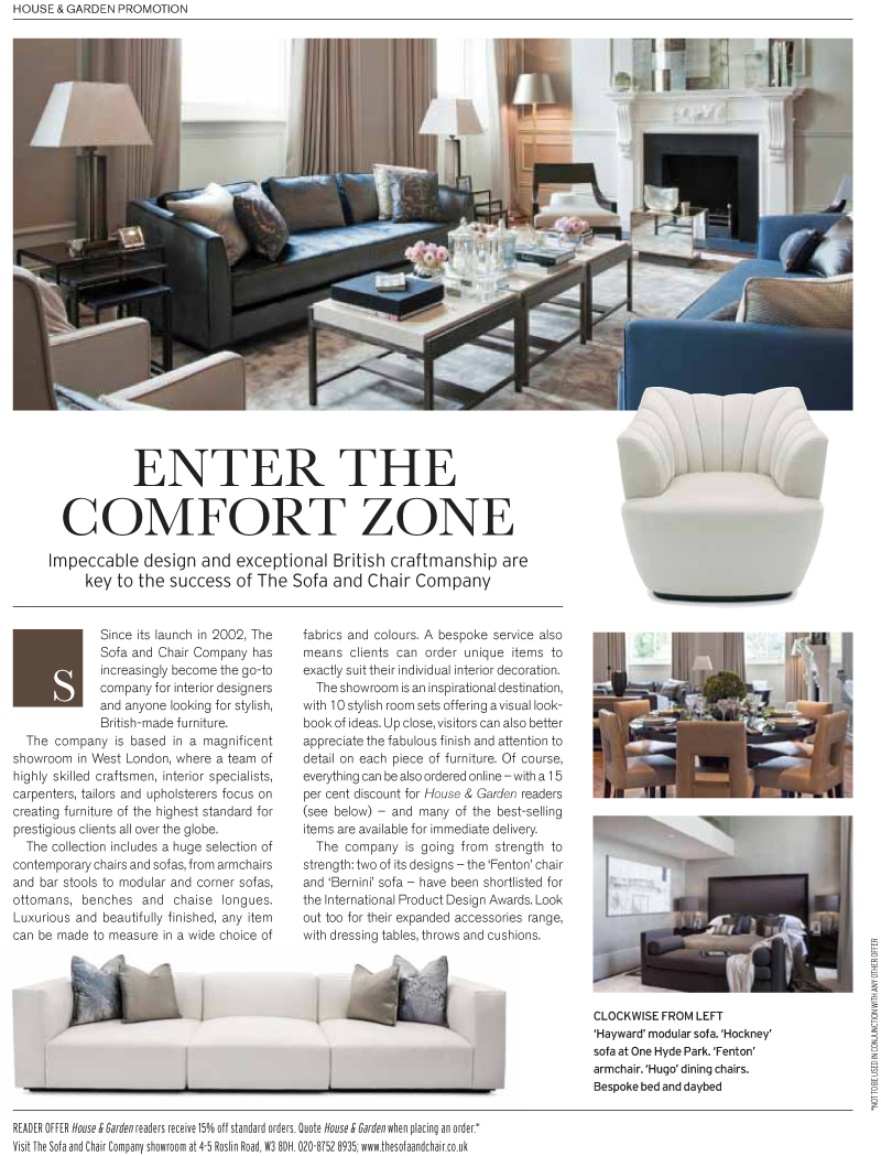 Sofa And Chair Company The Sofa Chair Company In House Garden Magazine The Sofa
