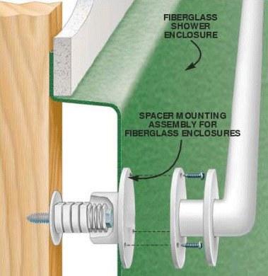 How to Install a grab bar into a fiberglass shower or tub. The Family Handyman Magazine