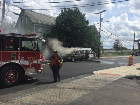 Ambulance Bus Fire In Union Square Somerville The